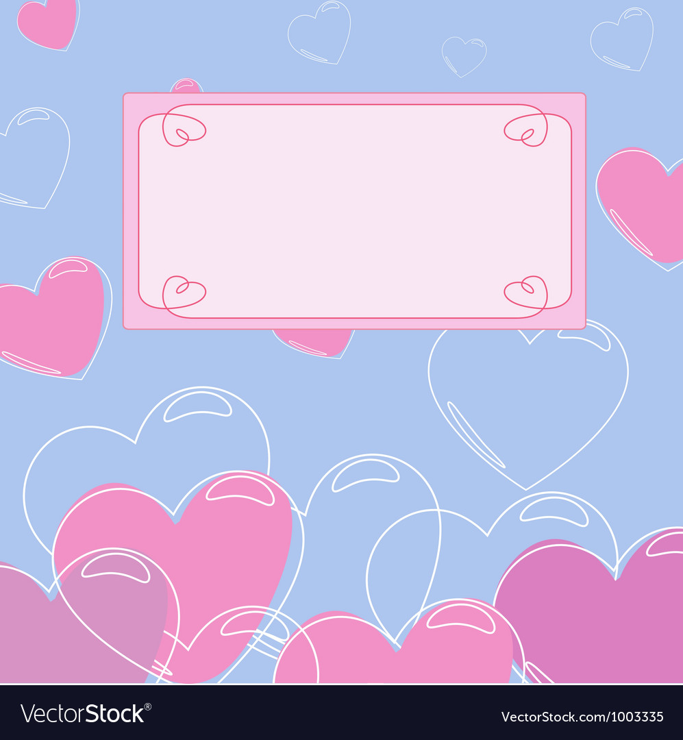 Background with heart with banner 2 vector   Price: 1 Credit (USD $1)