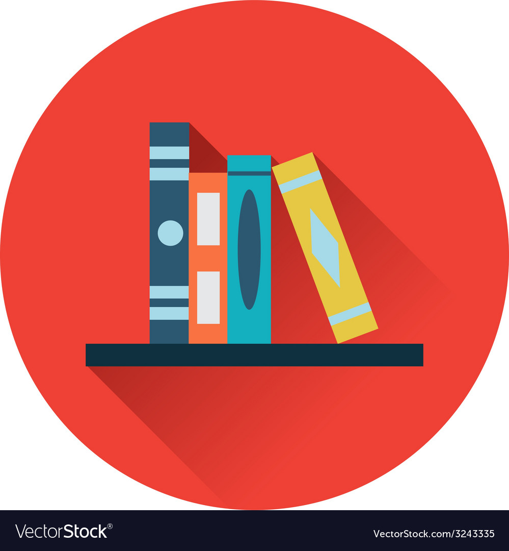Bookshelf icon vector | Price: 1 Credit (USD $1)