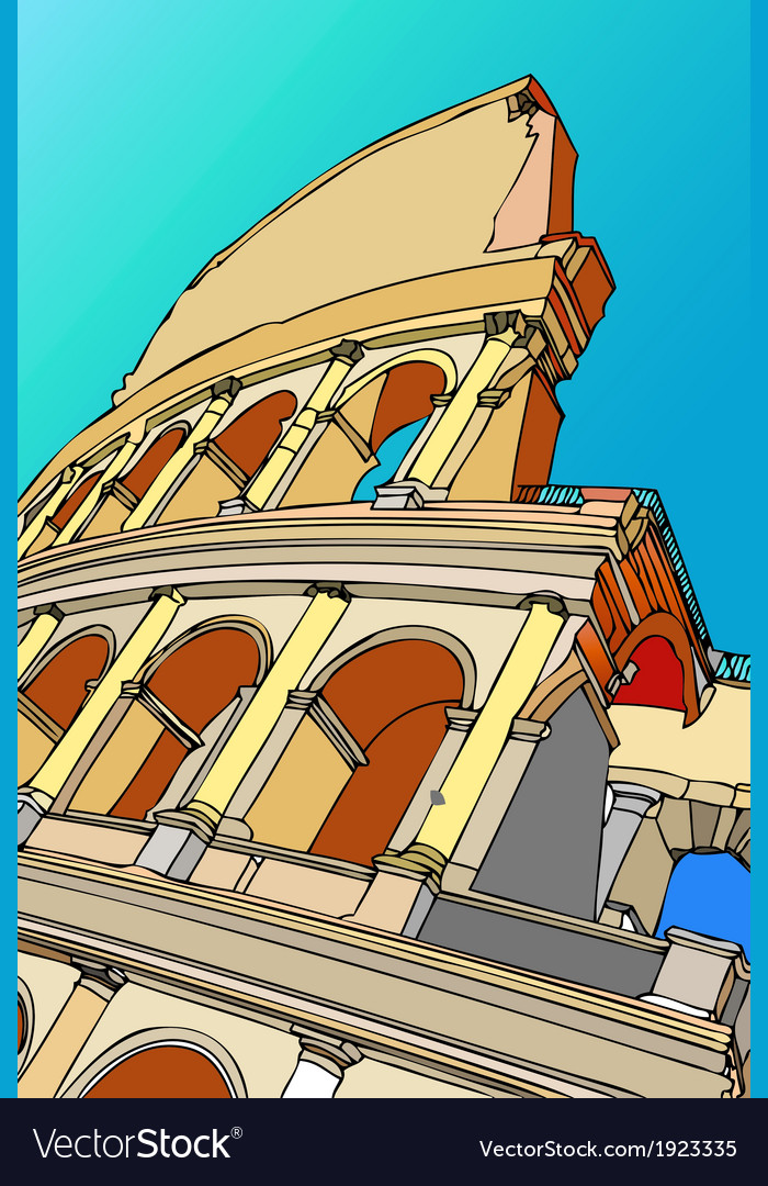 The colosseum of rome rome italy vector | Price: 1 Credit (USD $1)