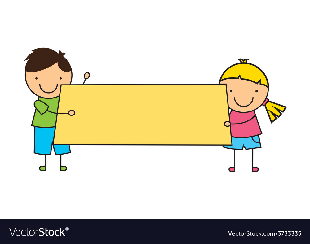 Cute children vector | Price: 1 Credit (USD $1)