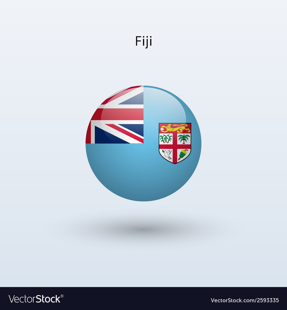 Fiji round flag vector | Price: 1 Credit (USD $1)