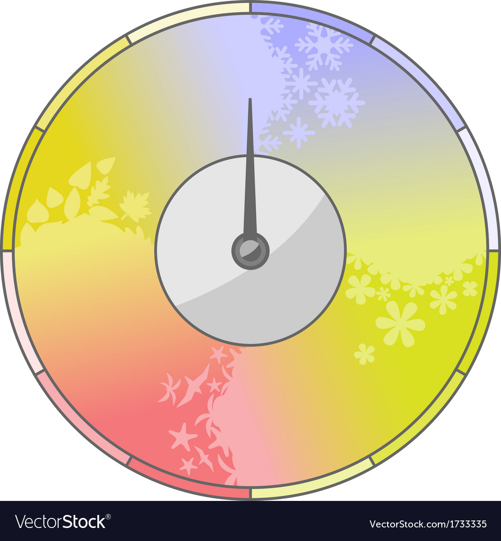 Season indicator vector | Price: 1 Credit (USD $1)
