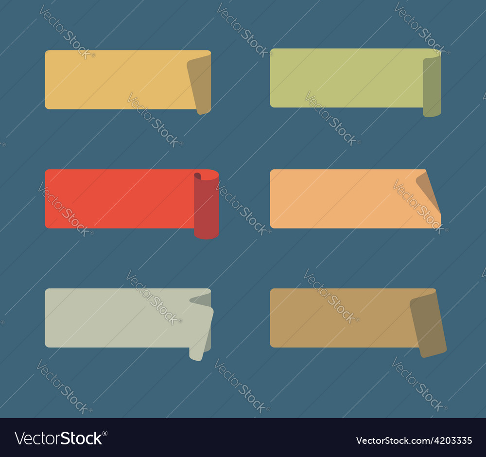 Set of colored adhesive scotch tapes vector | Price: 1 Credit (USD $1)