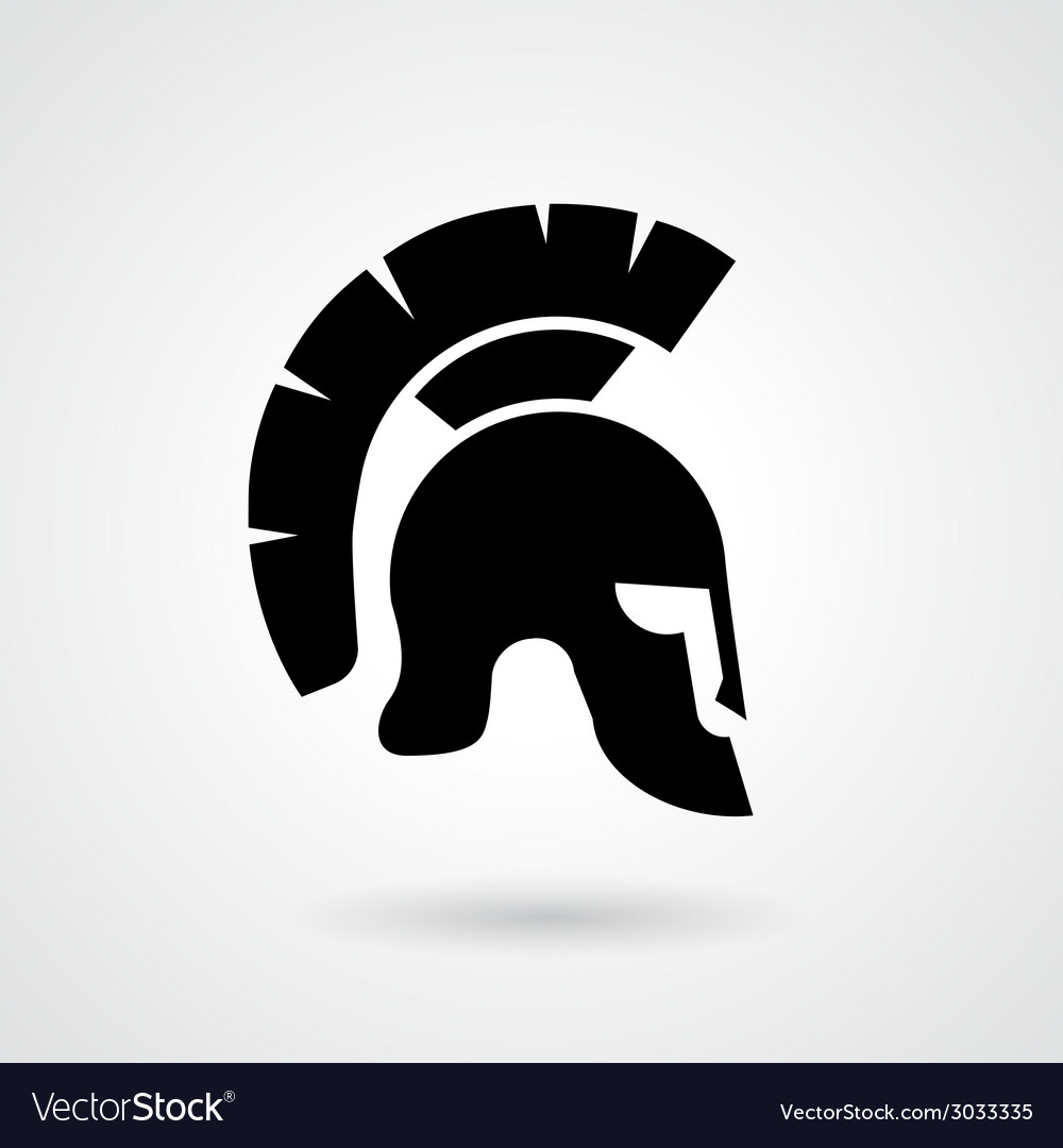 Silhouette of an ancient roman or greek helmet vector | Price: 1 Credit (USD $1)