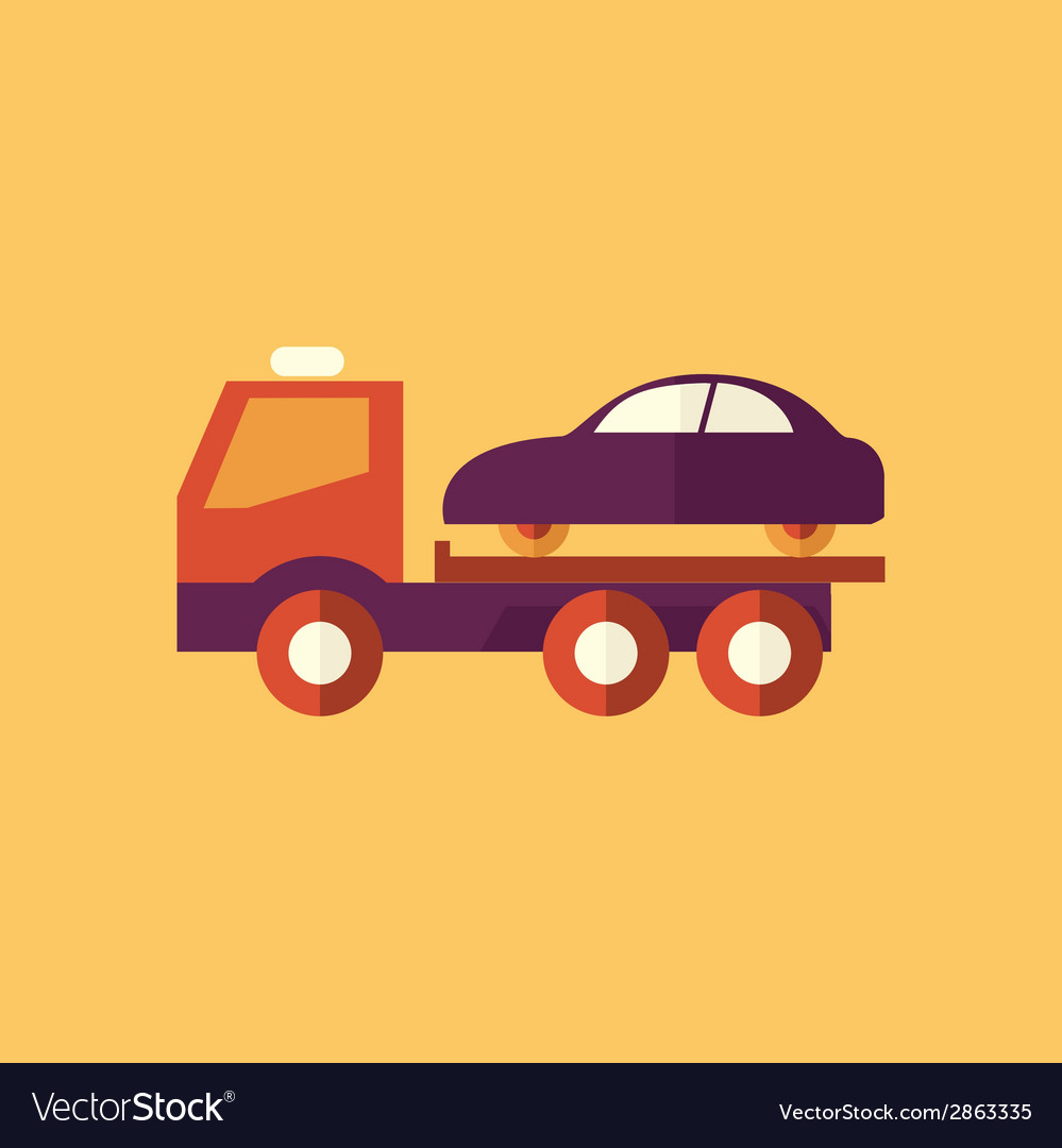 Tipper truck transportation flat icon vector | Price: 1 Credit (USD $1)