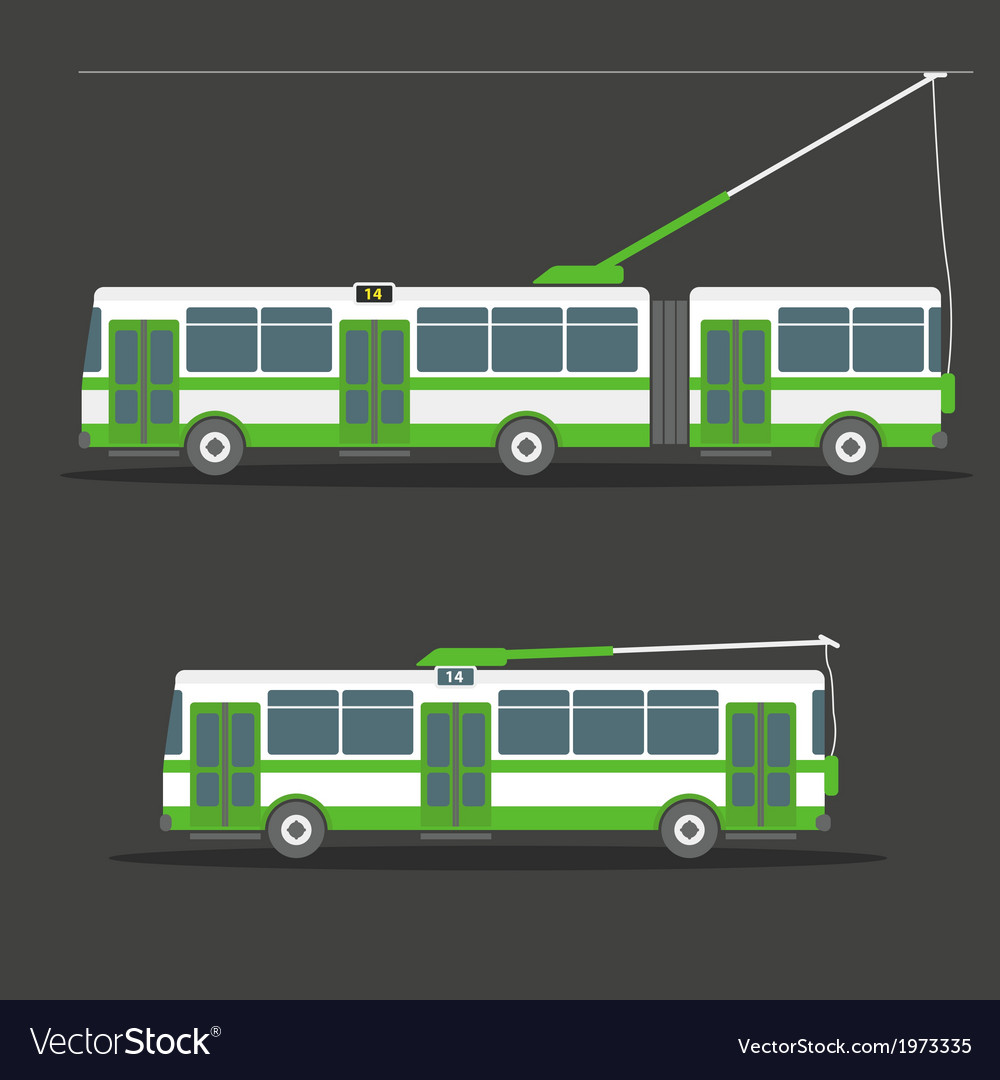 Trolleybus vector | Price: 1 Credit (USD $1)