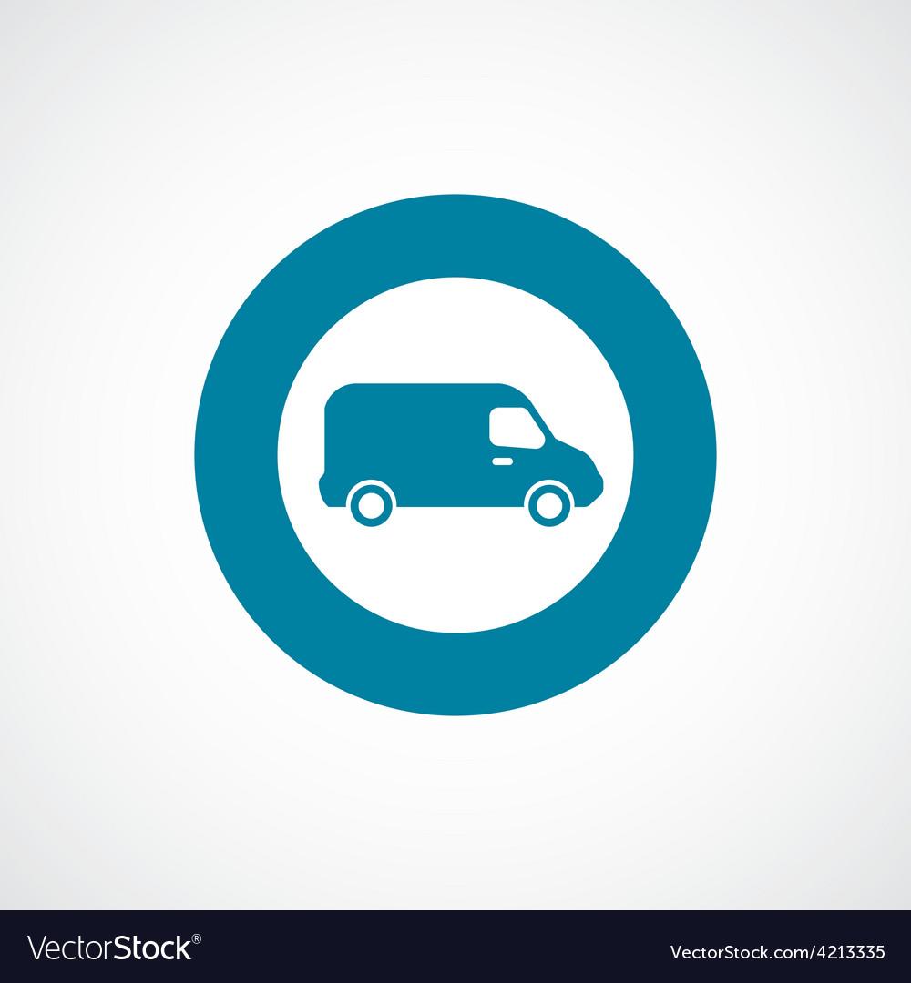 Van icon bold blue circle border vector | Price: 1 Credit (USD $1)