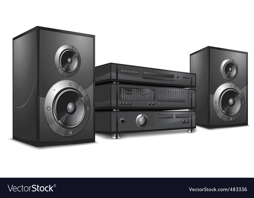 Audio system hi-fi vector | Price: 1 Credit (USD $1)