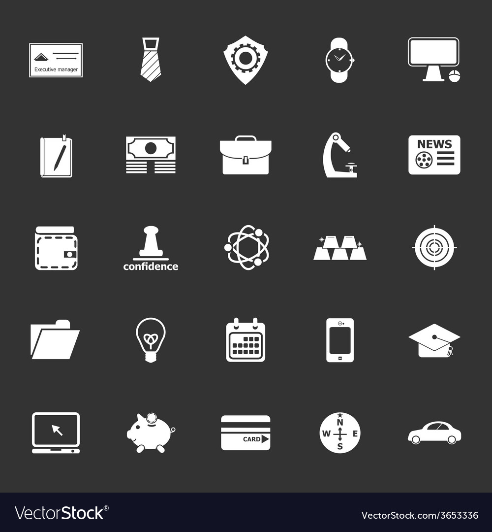Businessman item icons on gray background vector   Price: 1 Credit (USD $1)