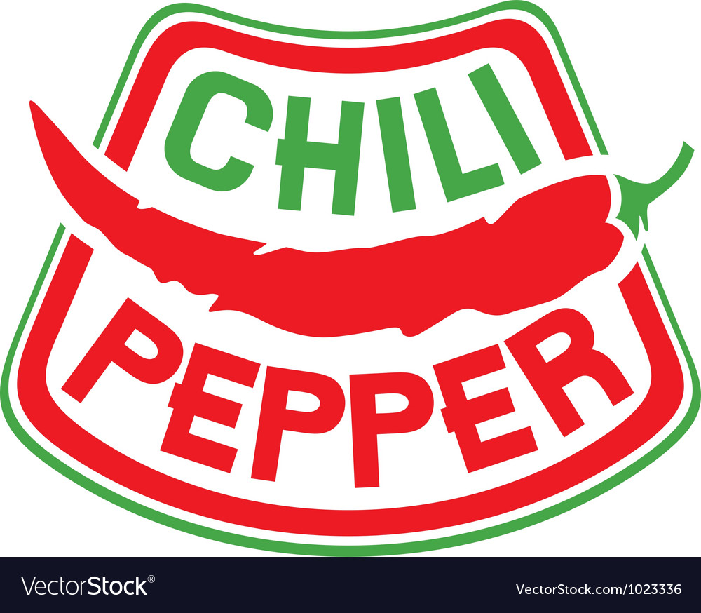 Chili pepper label vector | Price: 1 Credit (USD $1)