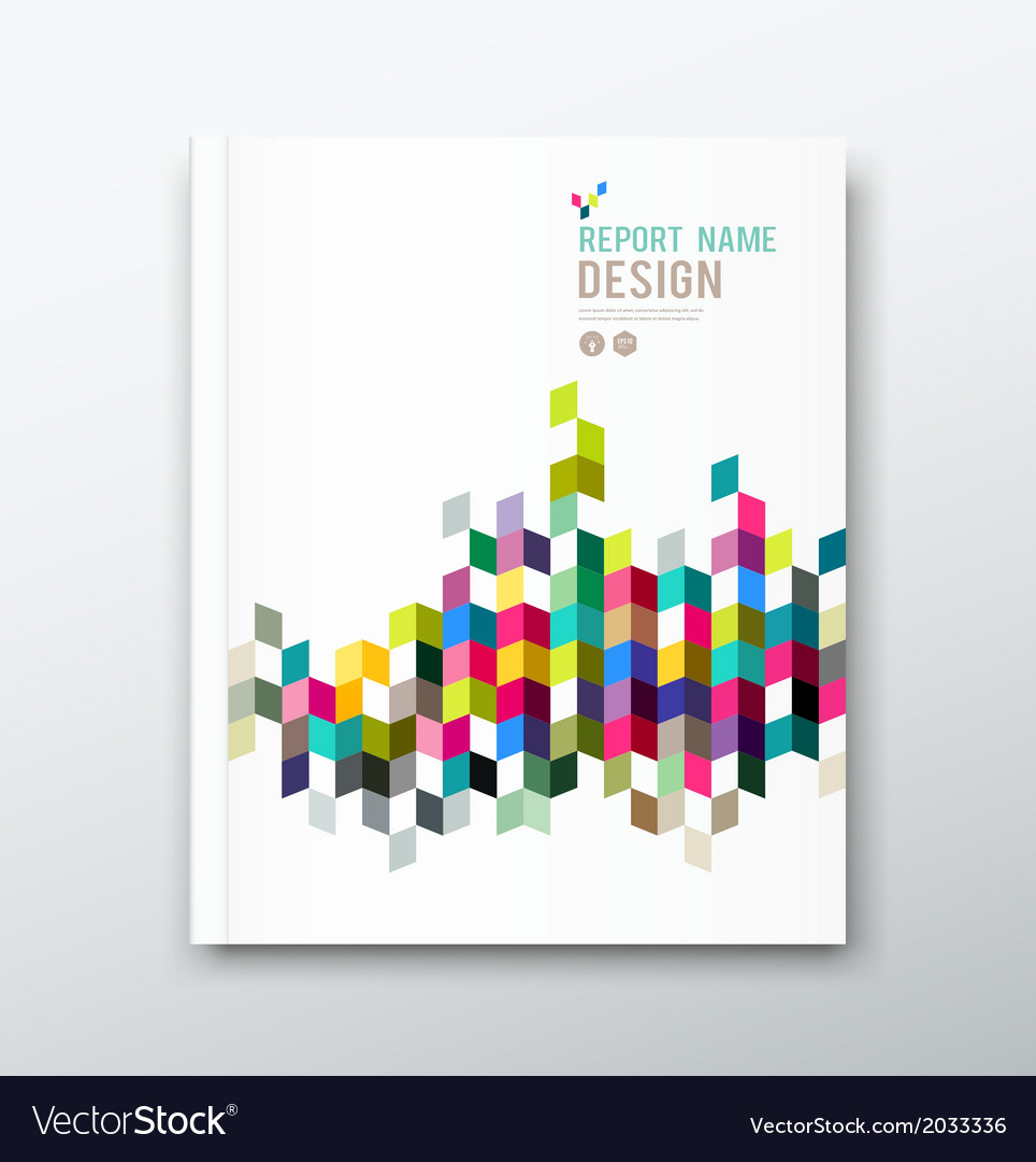 Cover annual report and brochure colorful geometri vector | Price: 1 Credit (USD $1)