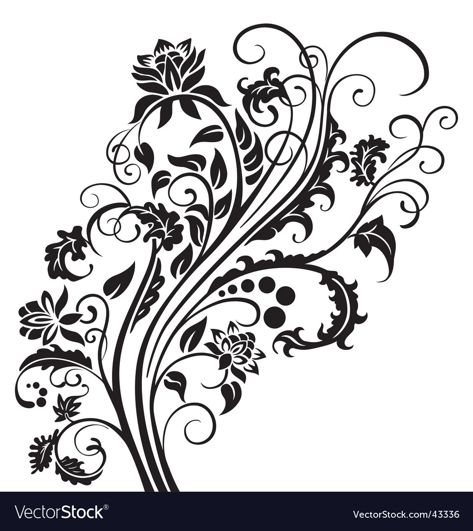 Floral garnish vector | Price: 1 Credit (USD $1)