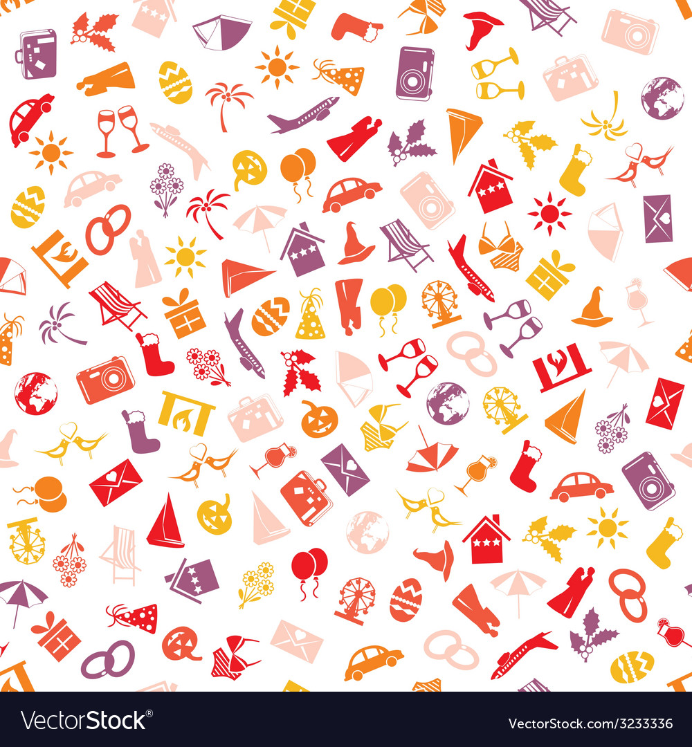 Holiday and events seamless pattern vector | Price: 1 Credit (USD $1)