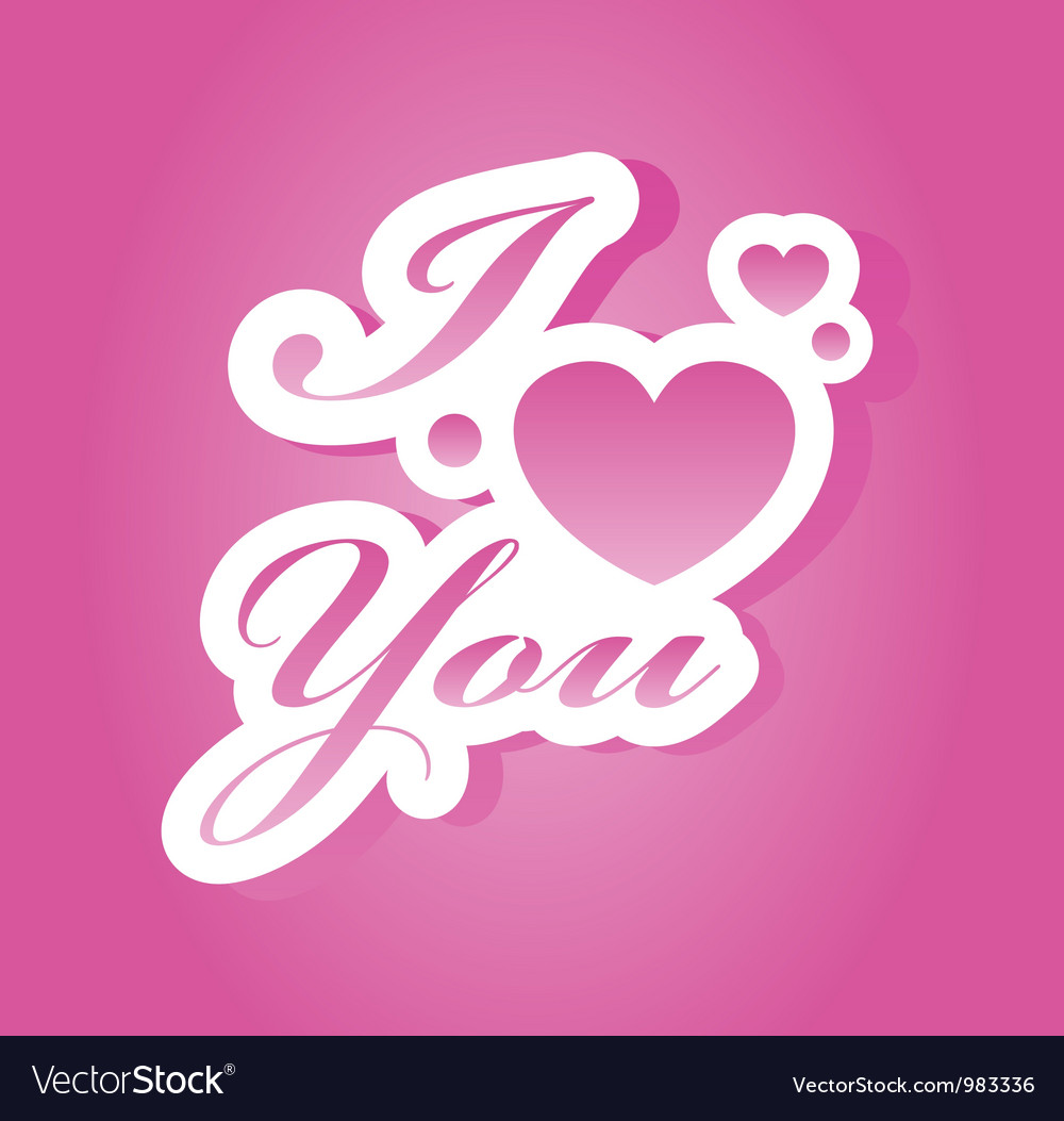 I love you lettering vector | Price: 1 Credit (USD $1)