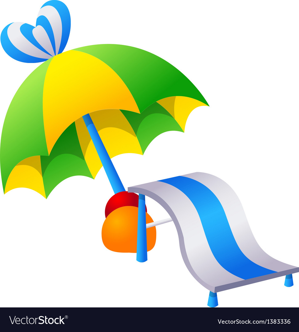 Icon parasol and chair vector | Price: 1 Credit (USD $1)