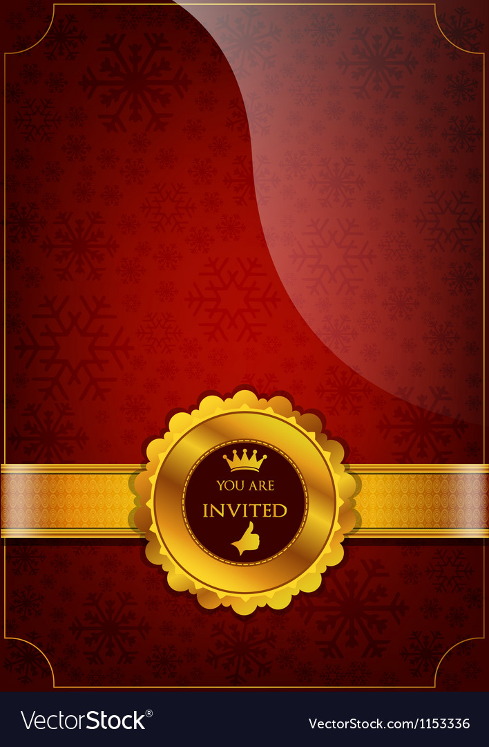 Red invitation design vector | Price: 1 Credit (USD $1)