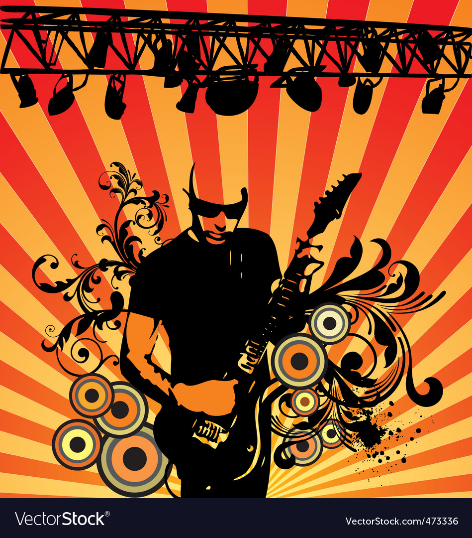 Rock musician vector | Price: 1 Credit (USD $1)