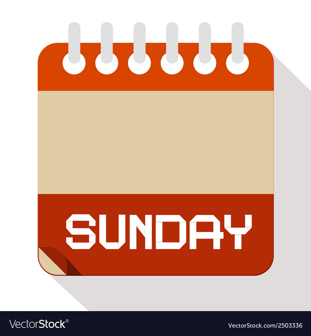 Sunday paper calendar vector | Price: 1 Credit (USD $1)