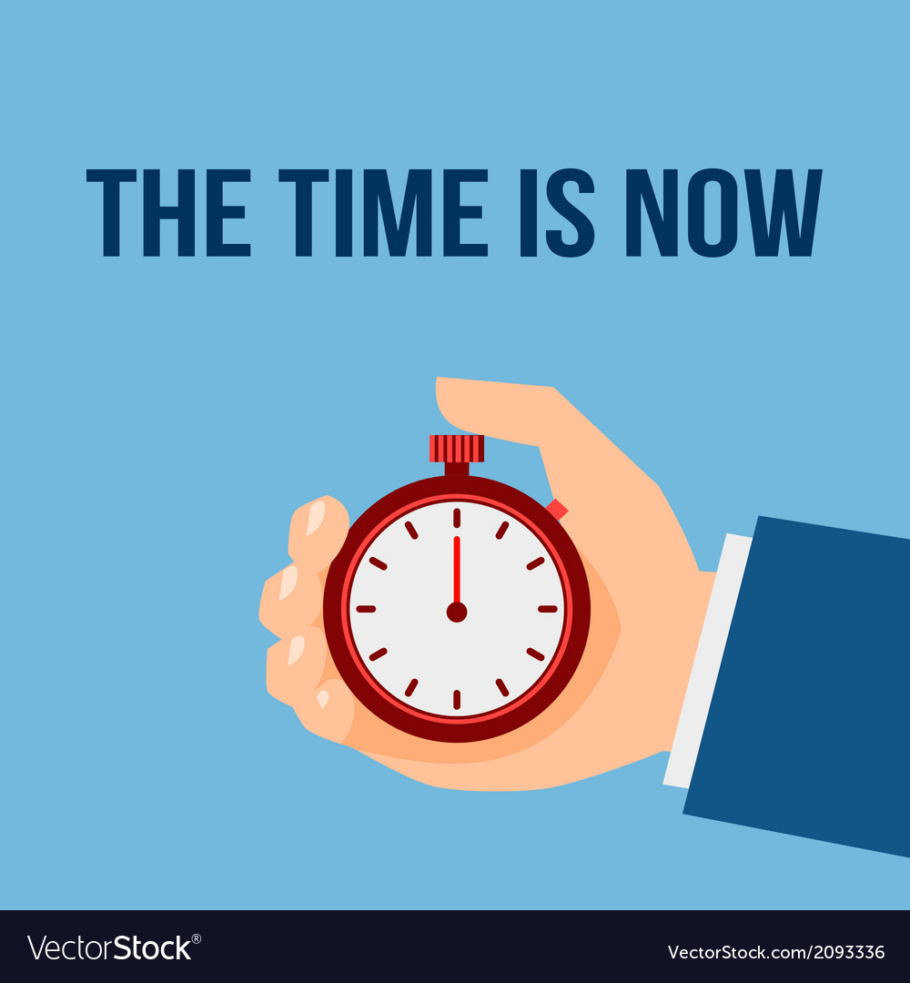 Time management stop watch poster vector | Price: 1 Credit (USD $1)
