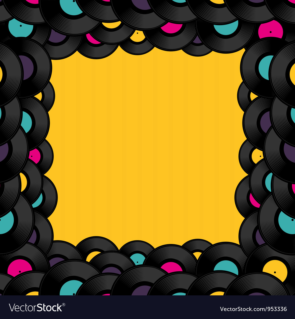 Vinyl record background with space for text vector   Price: 1 Credit (USD $1)