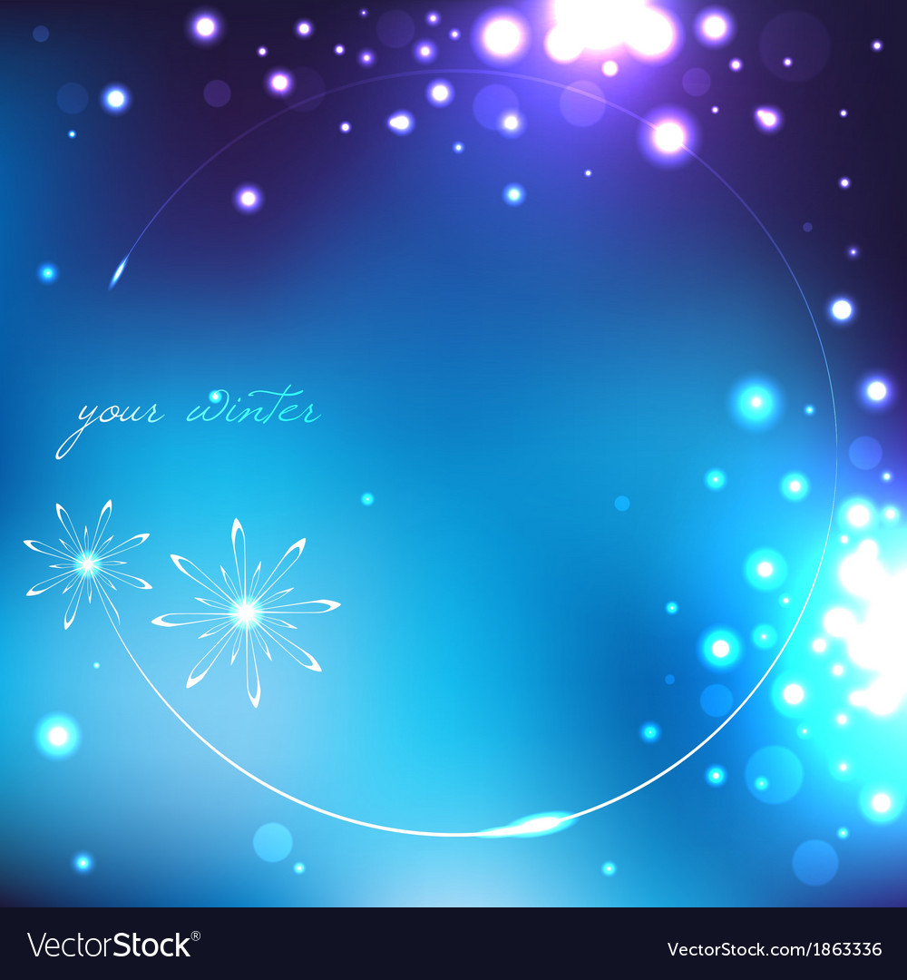 Winter blue background with snowflakes vector   Price: 1 Credit (USD $1)