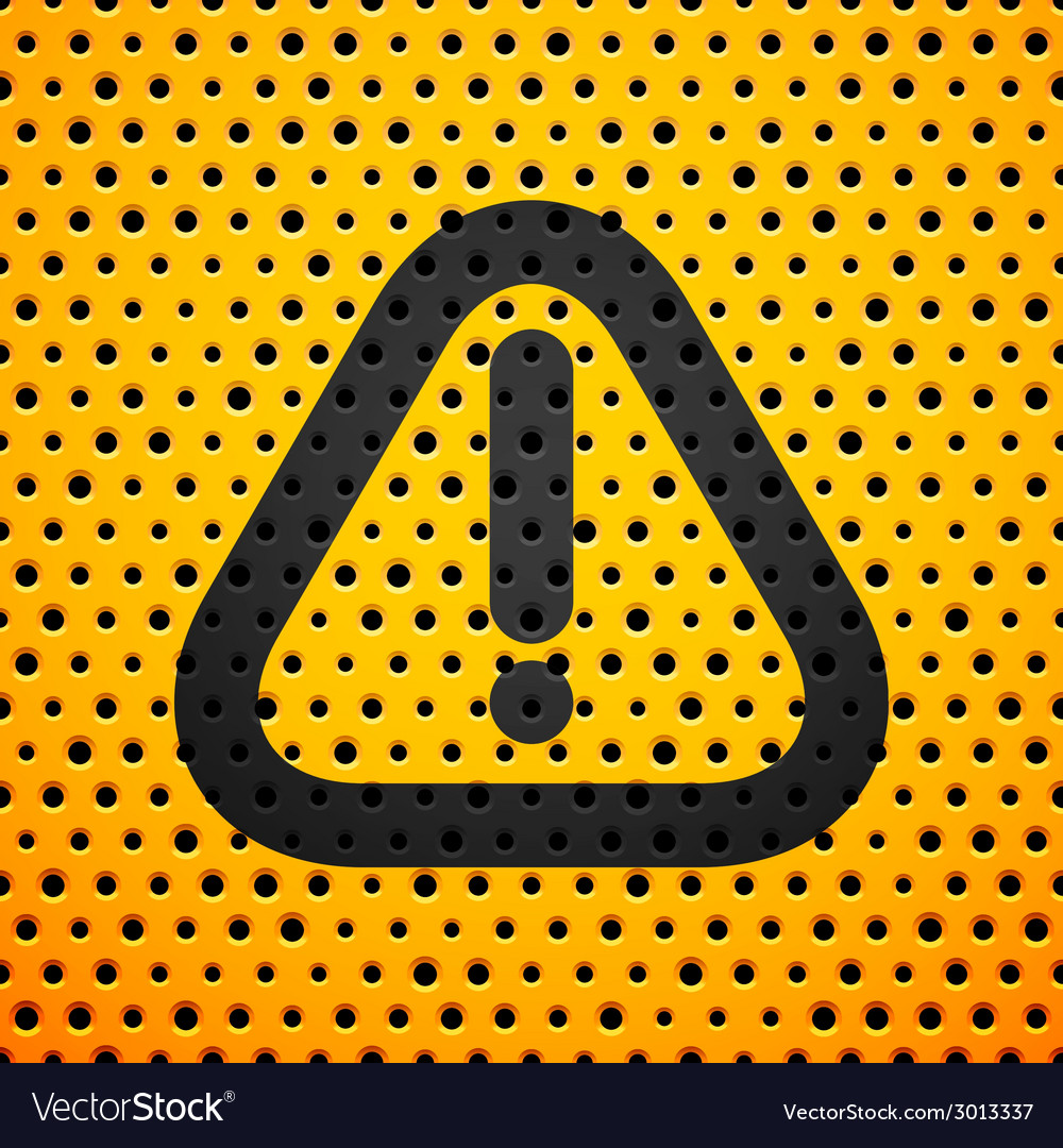 Attention black sign on yellow metal texture with vector | Price: 1 Credit (USD $1)