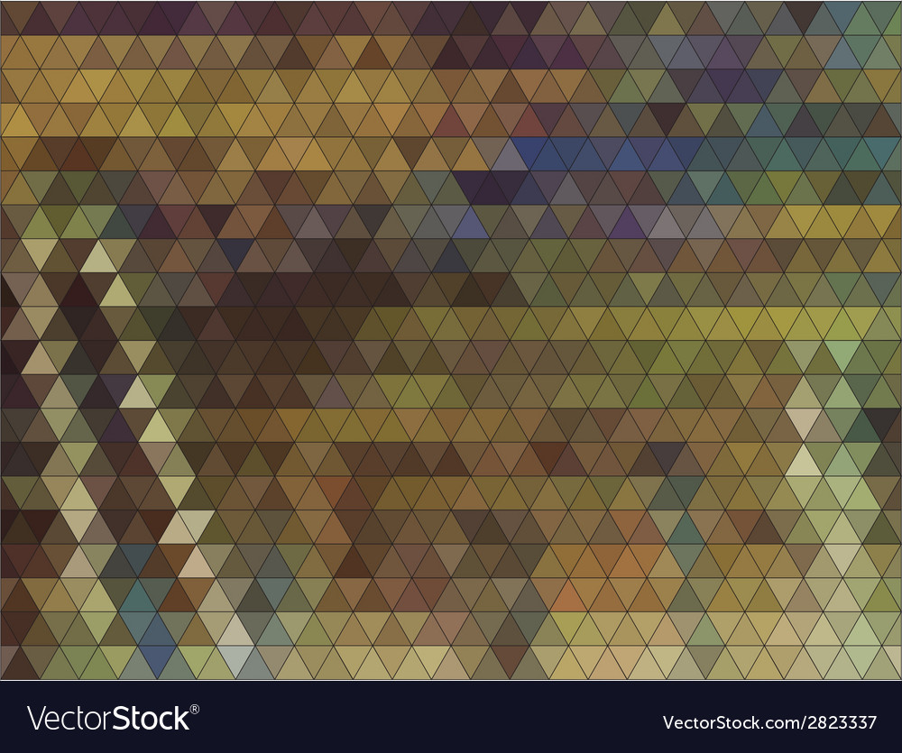 Autumn colorful background made of triangles vector | Price: 1 Credit (USD $1)