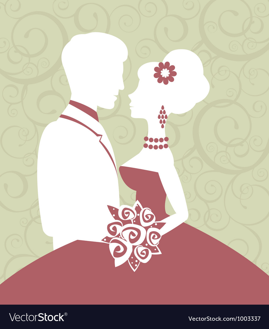Bride and groom in love vector | Price: 1 Credit (USD $1)