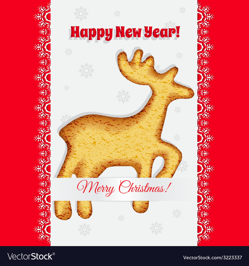 Christmas cookiesin the form of a deer vector | Price: 1 Credit (USD $1)