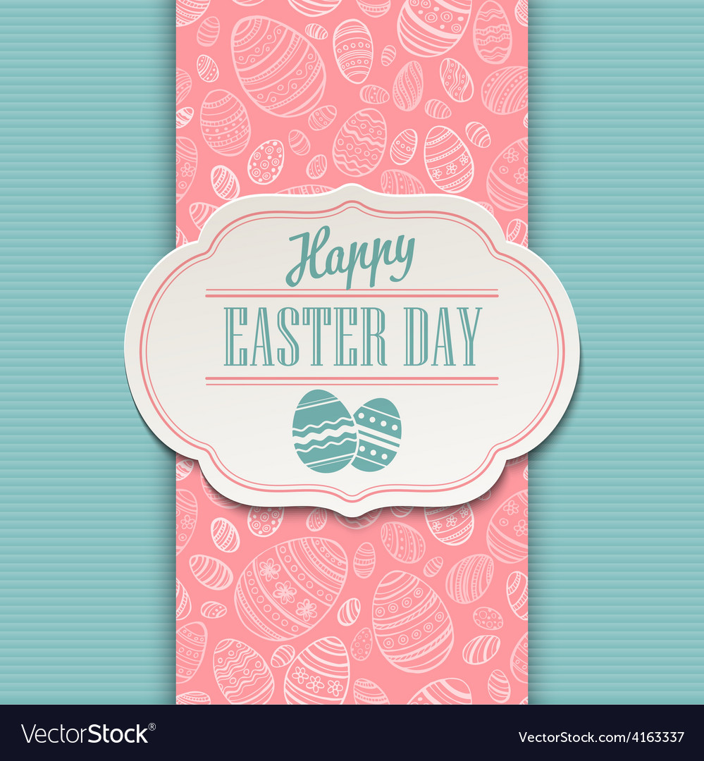 Easter greeting card holiday typography vector | Price: 1 Credit (USD $1)