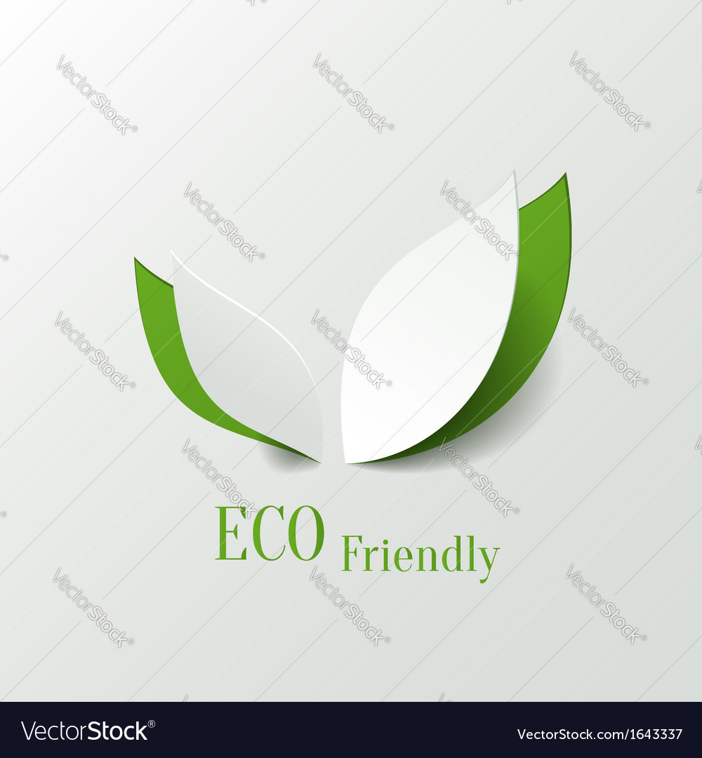 Eco friendly background vector | Price: 1 Credit (USD $1)