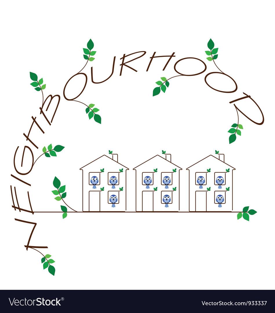 Neighbourhood vector | Price: 1 Credit (USD $1)