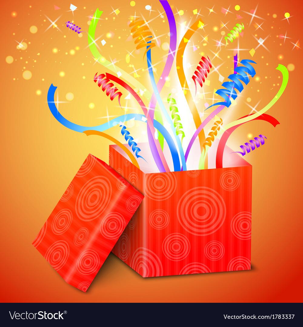 Open gift box vector | Price: 1 Credit (USD $1)