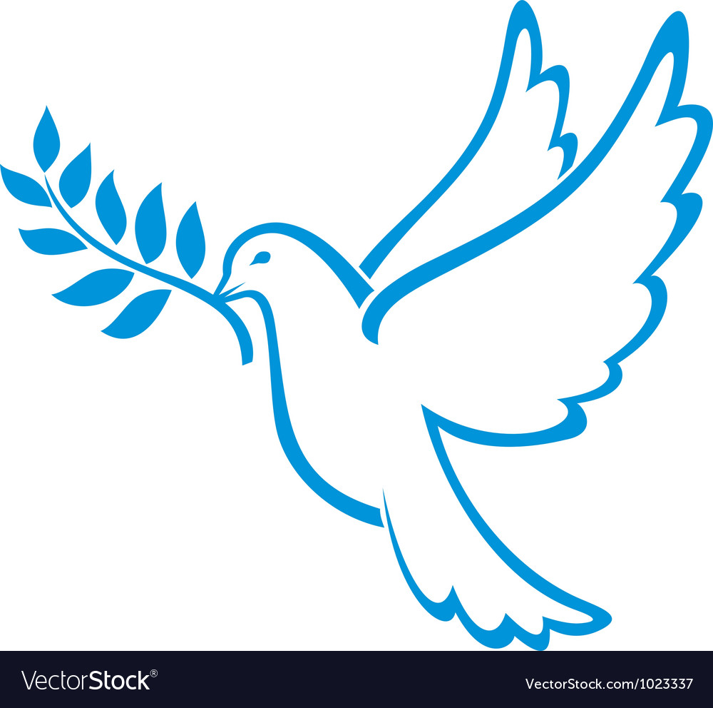 Peace dove vector | Price: 1 Credit (USD $1)