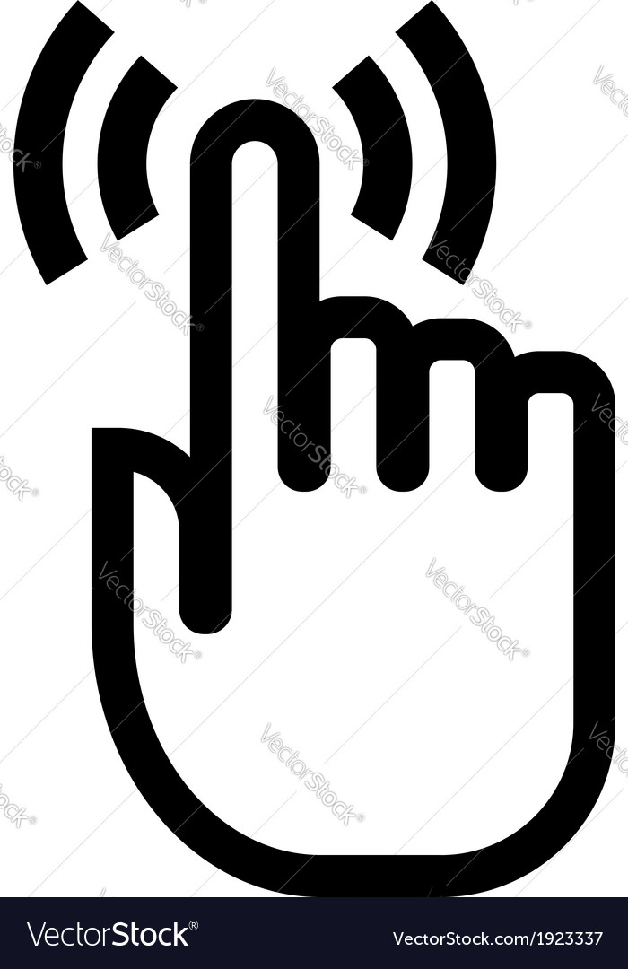 Touch finger icon vector | Price: 1 Credit (USD $1)