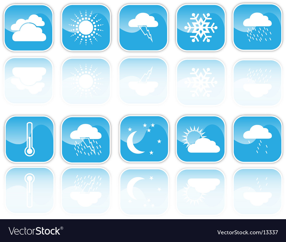 Weather signs vector