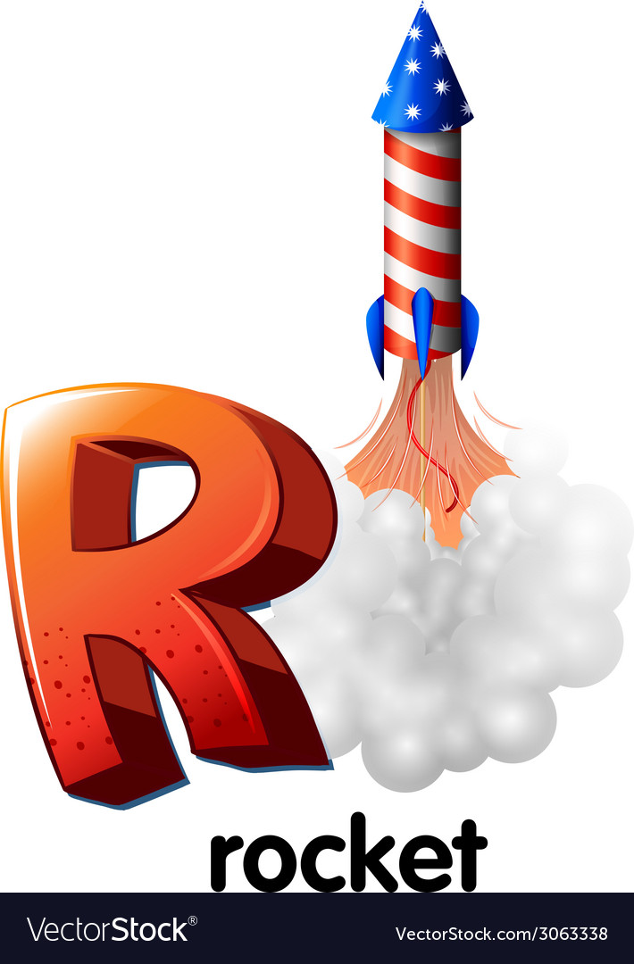 A letter r for rocket vector | Price: 1 Credit (USD $1)