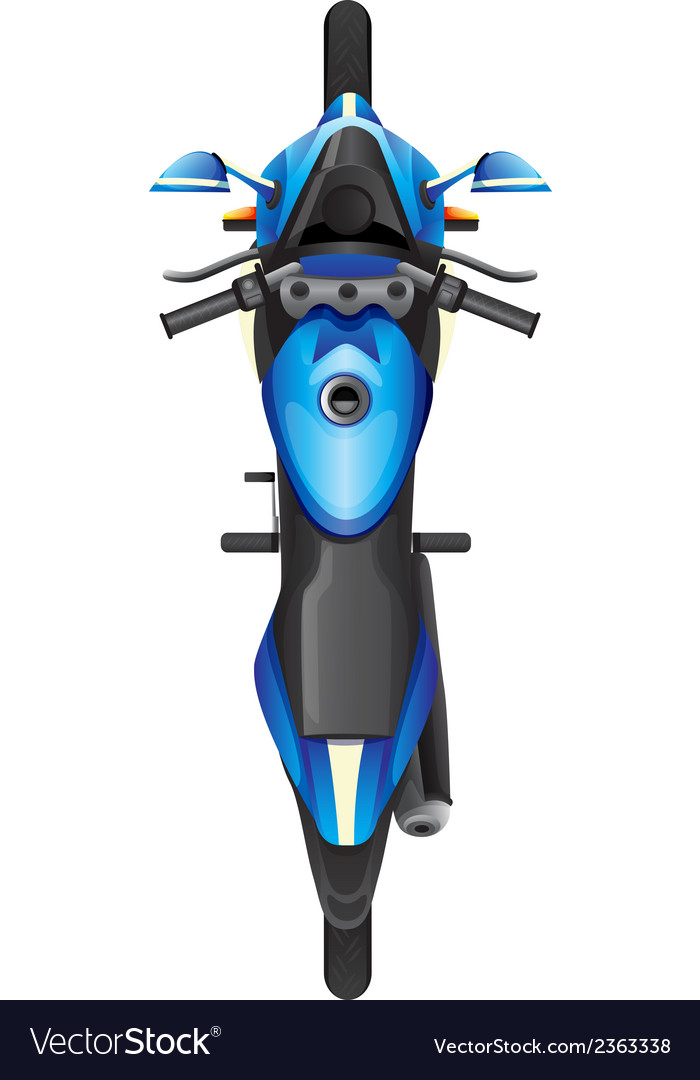 A topview of a blue scooter vector | Price: 1 Credit (USD $1)