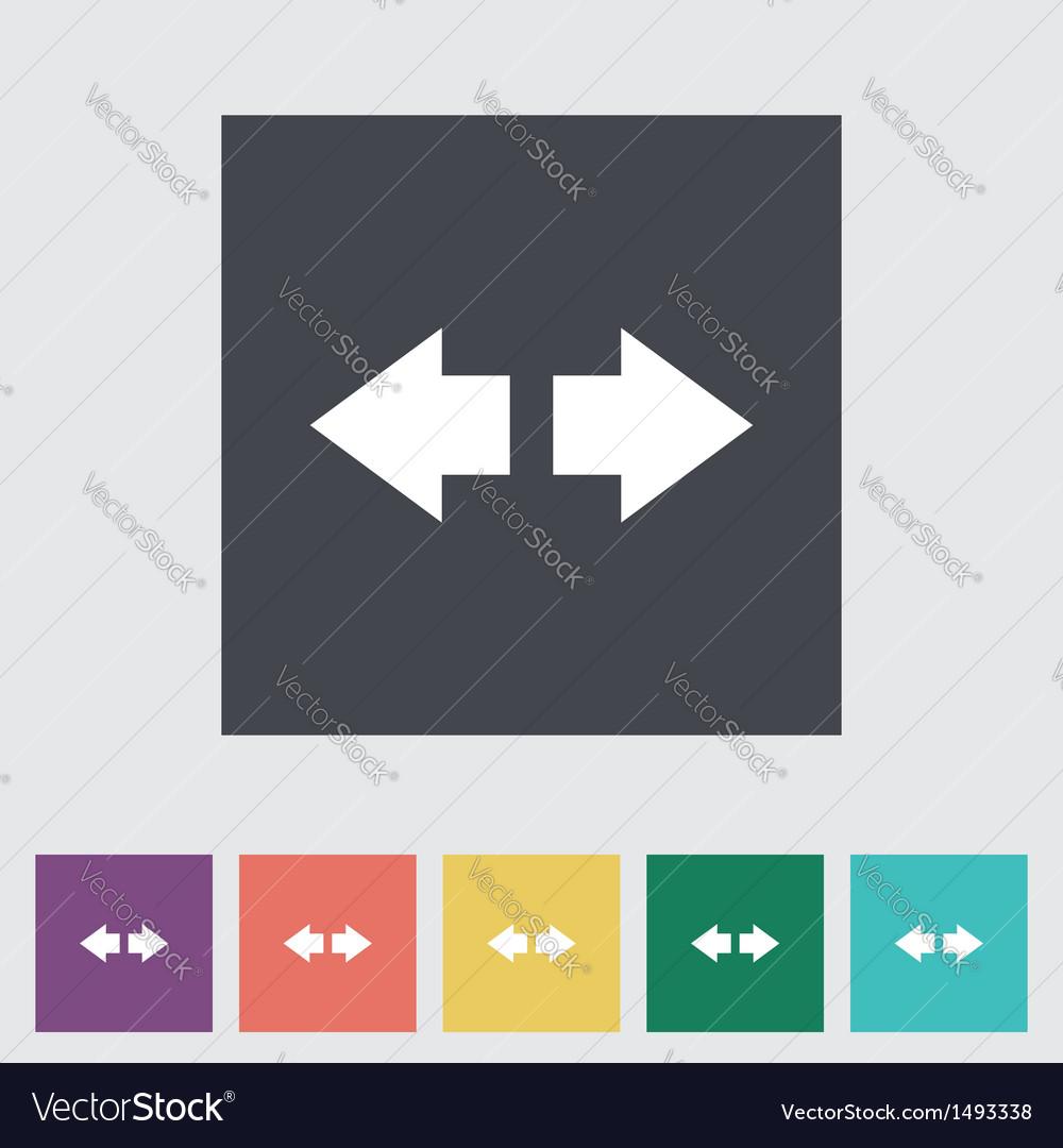 Arrow flat icon vector | Price: 1 Credit (USD $1)