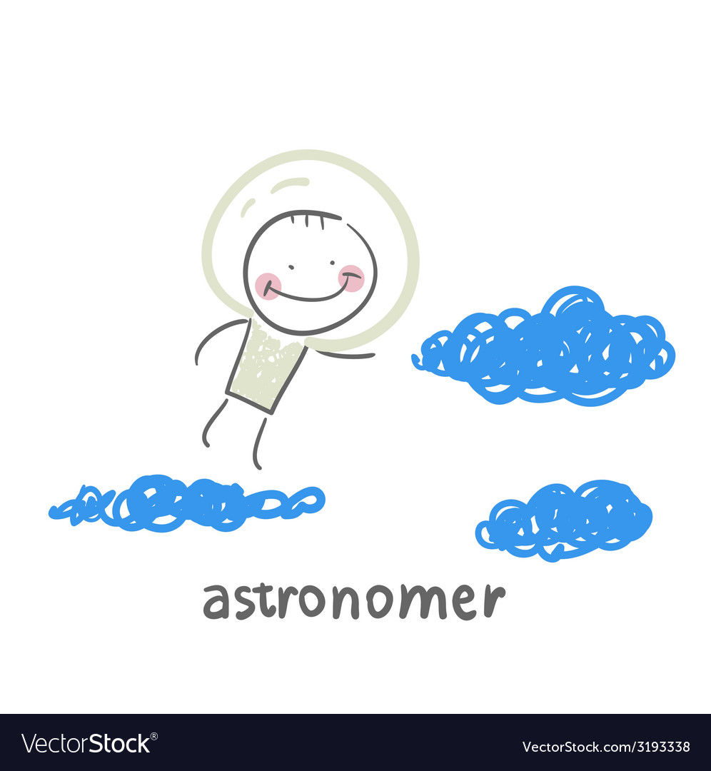 Astronomer flies in the stars vector | Price: 1 Credit (USD $1)