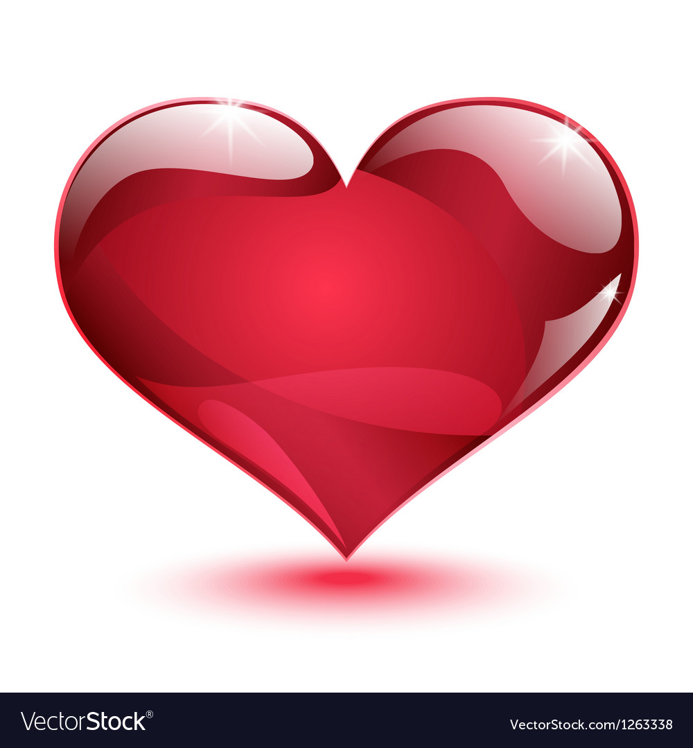 Big shiny red heart vector | Price: 1 Credit (USD $1)
