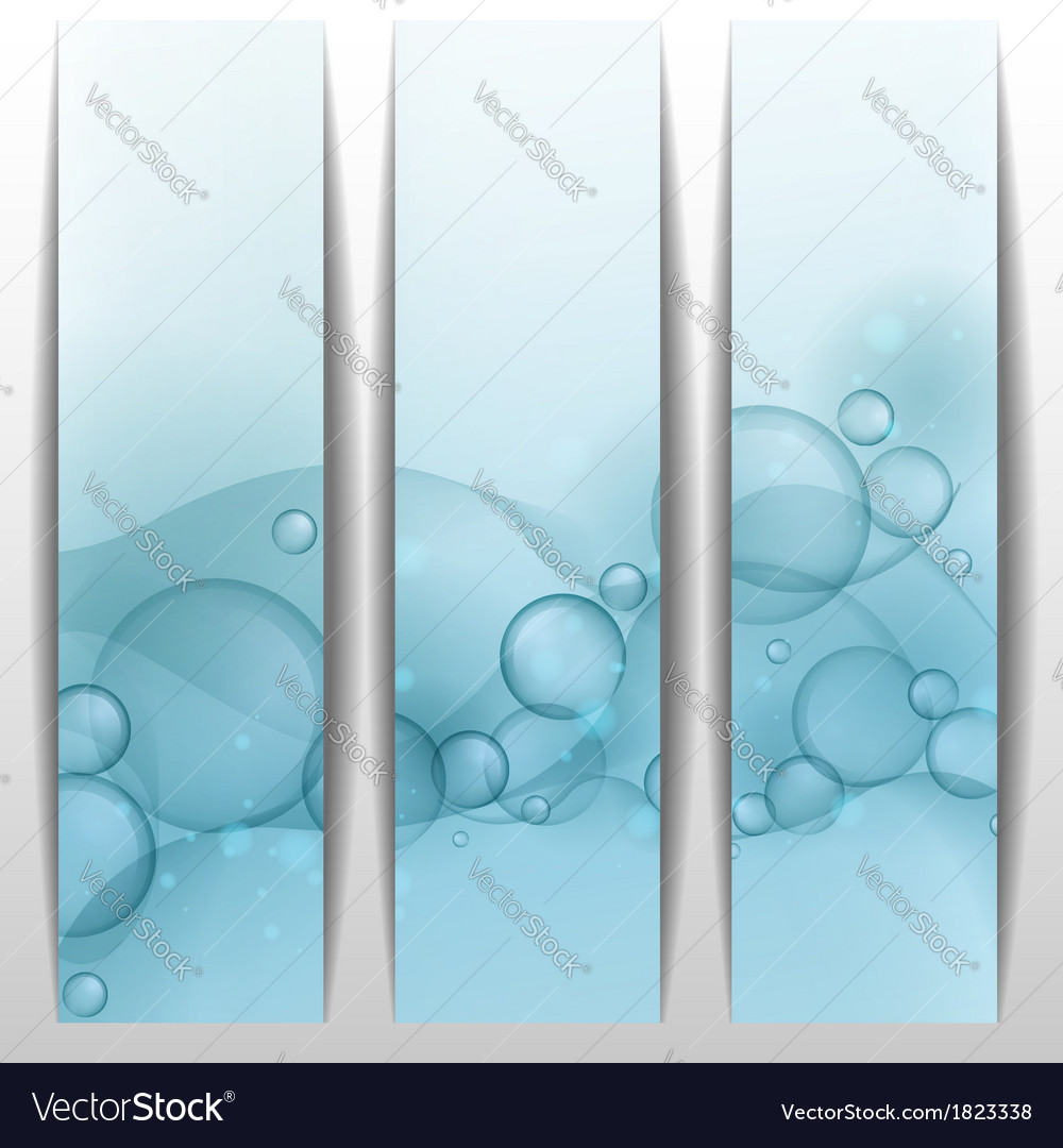 Blue glowing bubbles banner vector | Price: 1 Credit (USD $1)
