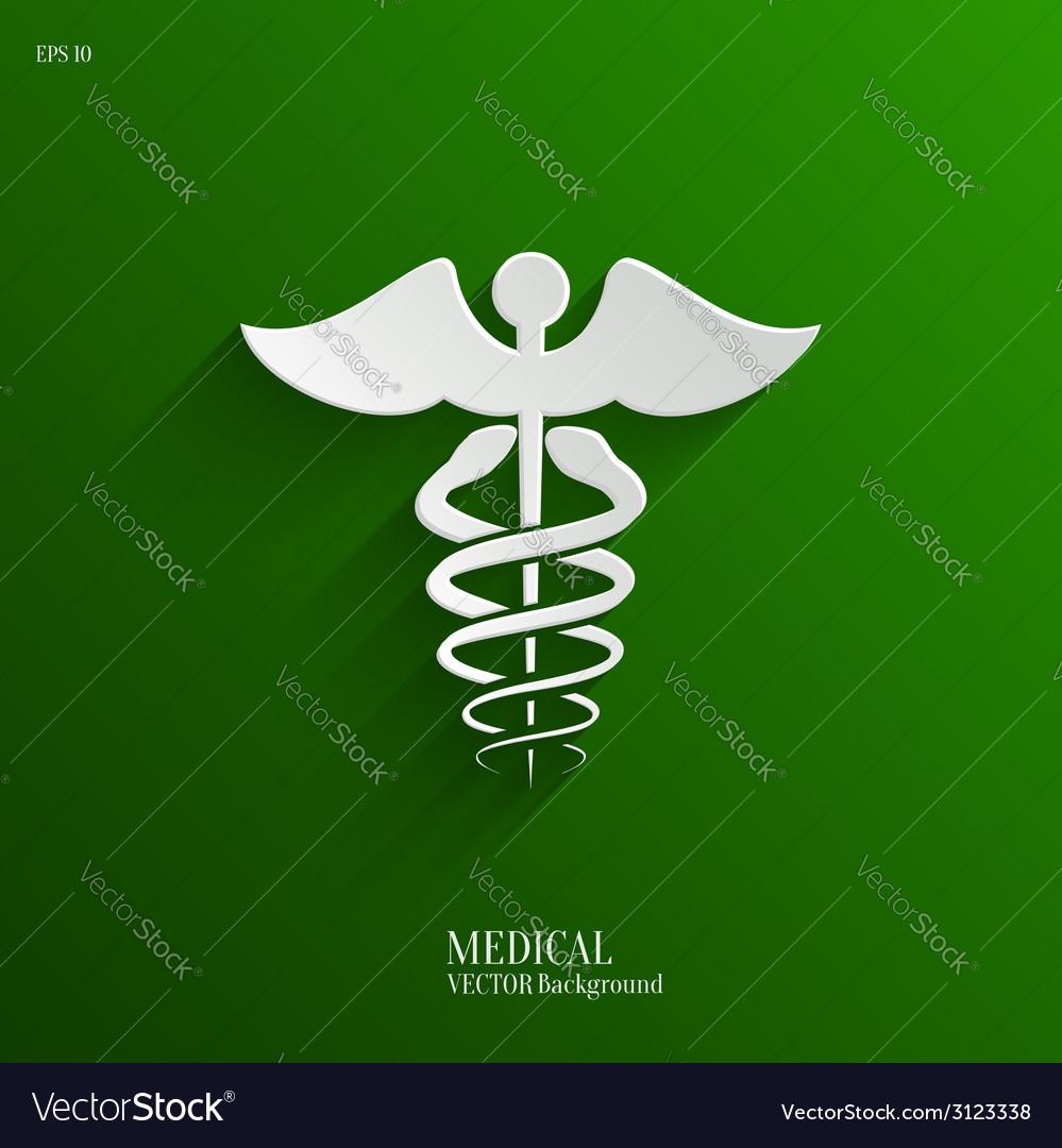 Caduceus medical symbol- backgrond vector   Price: 1 Credit (USD $1)