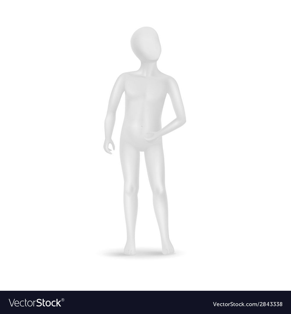 Child mannequin isolated on white vector | Price: 1 Credit (USD $1)