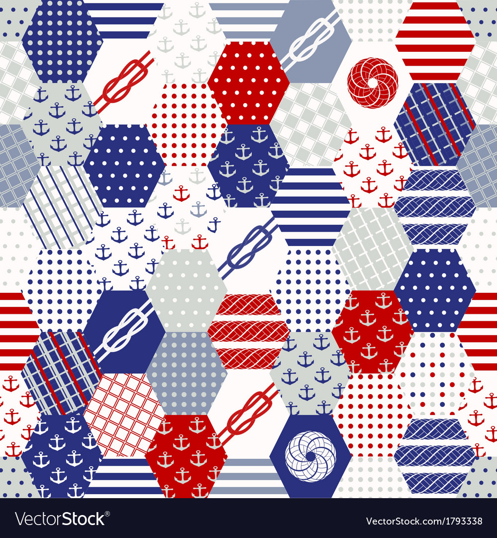 Colorful patchwork seamless patterns vector   Price: 1 Credit (USD $1)