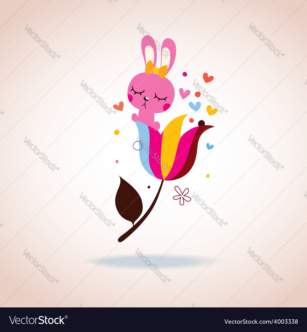 Cute bunny character vector   Price: 1 Credit (USD $1)