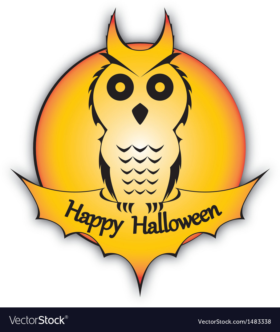 Holyday holloween owl vector | Price: 1 Credit (USD $1)