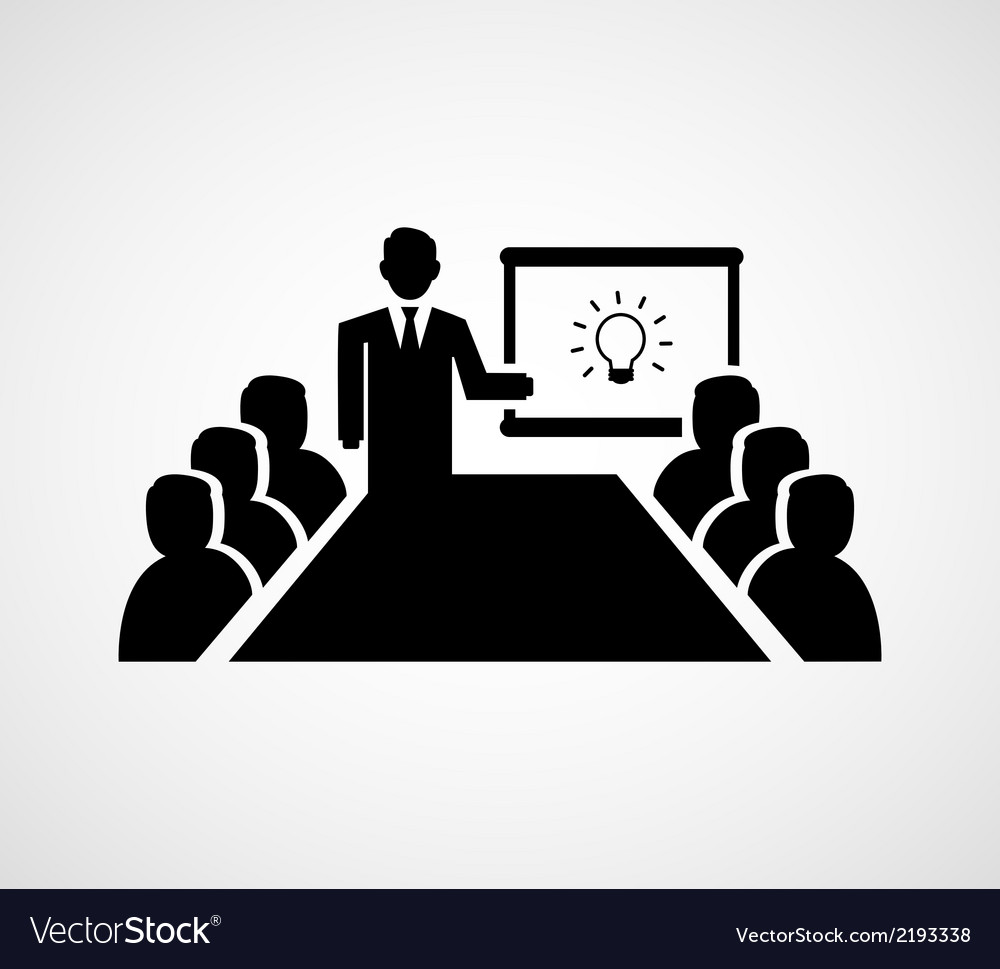 Presenting idea vector | Price: 1 Credit (USD $1)
