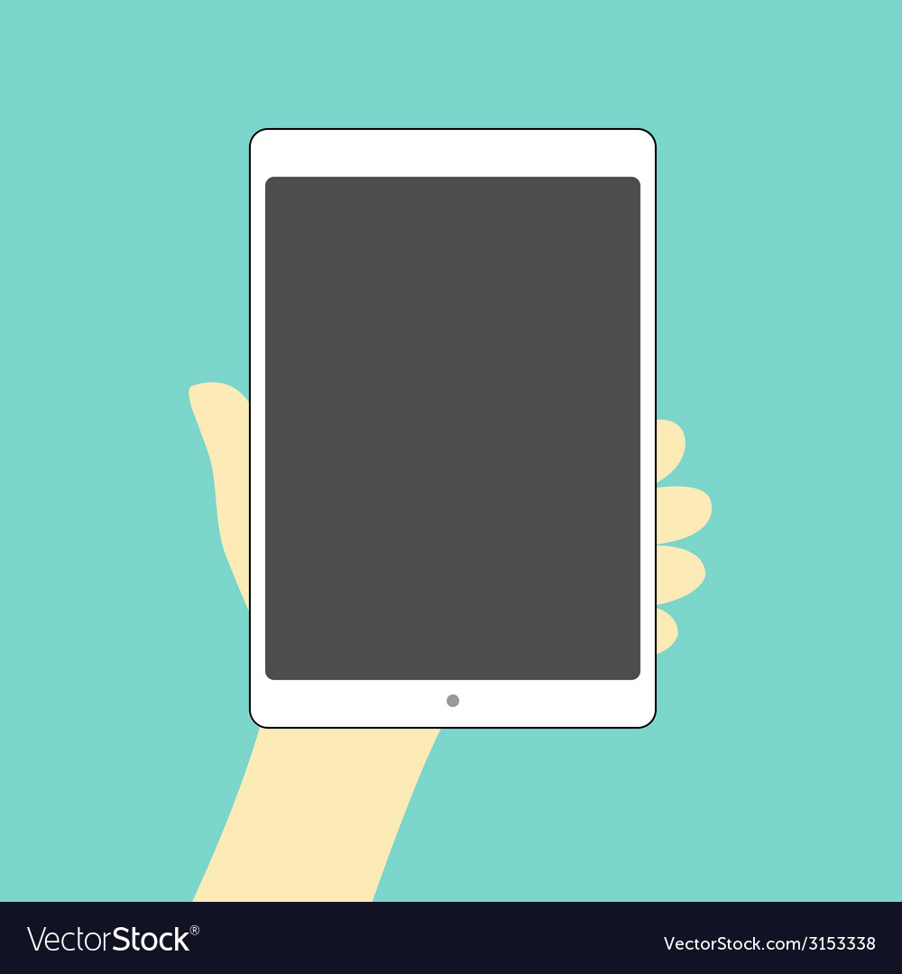 Tablet hand on vector | Price: 1 Credit (USD $1)
