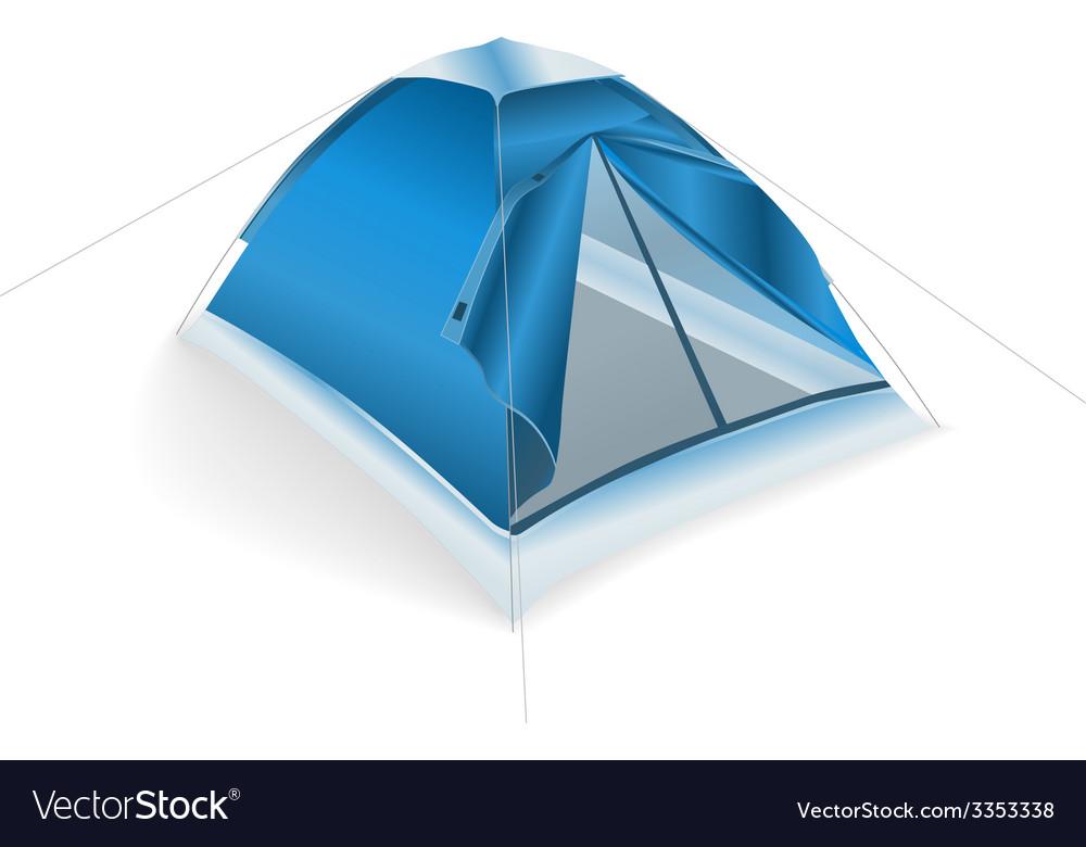 Tent blue vector | Price: 1 Credit (USD $1)
